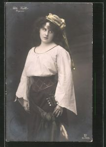 Foto-AK GG Co.: Zigeunerin mit Laute
