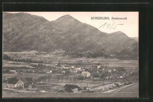 AK Scheifling, Ortsansicht mit Blick auf Berge
