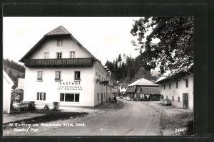 AK St. Kathrein am Hauenstein, Strassenpartie mit Gasthof Post