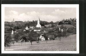 AK Nestelbach, Ortsansicht mit Kirche
