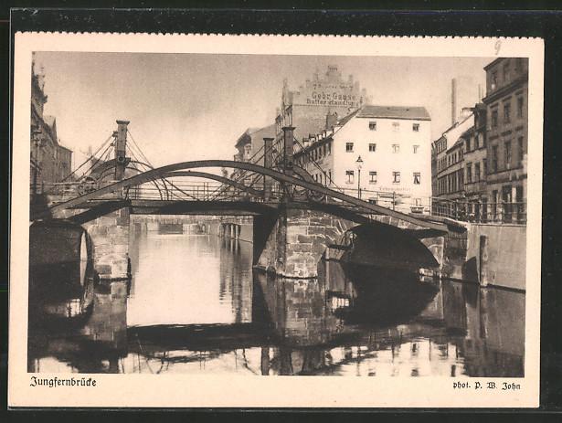 AK Berlin, Friedrichsgracht mit Jungfernbrücke