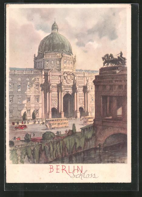 AK Berlin, Busse vor dem Schloss