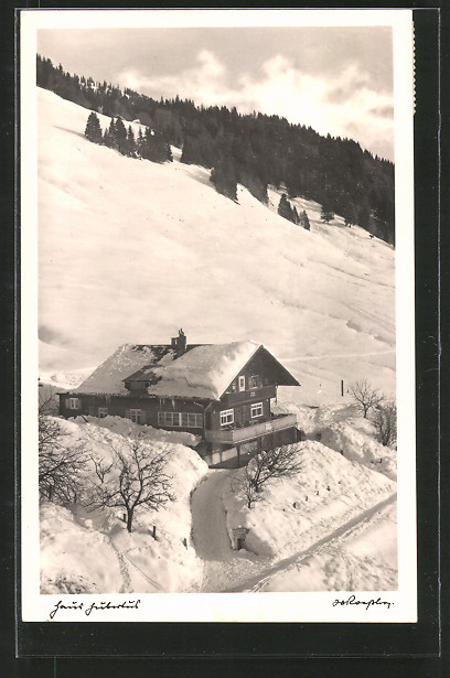 AK Balderschwang, Berggasthof Pension Hubertus im Winter