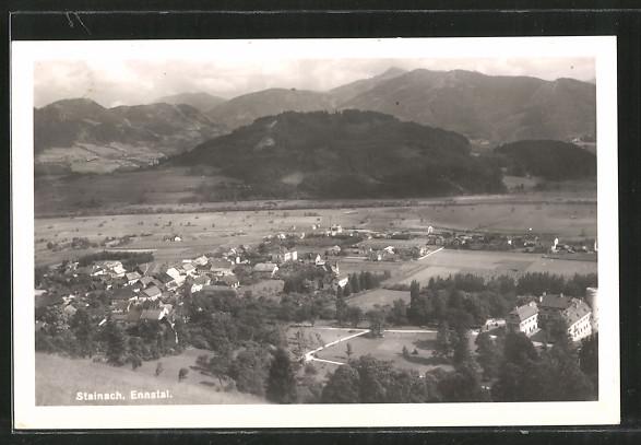 AK Steinach, Ortsansicht von einem Hügel aus