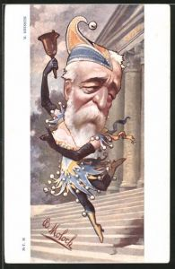 Künstler-AK Karikatur, Politiker Eugène Brisson als tanzender Narr