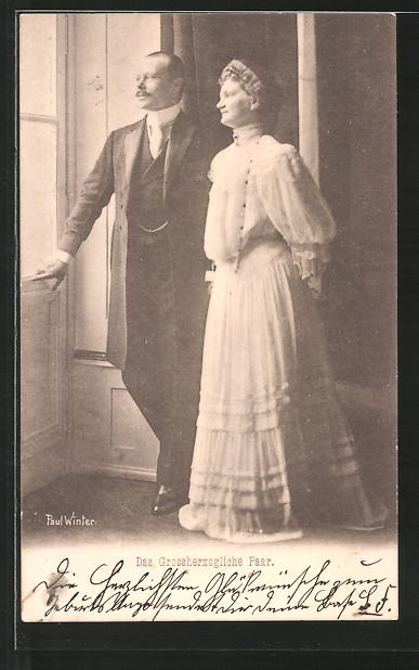 AK Das Grossherzogliche Paar von Hessen-Darmstadt, Ernst Ludwig