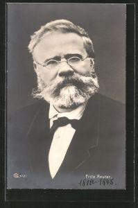AK Fritz Reuter, Portrait mit Brille 0 ...