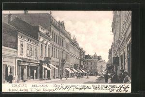 AK Belgrade, Rue du Prince Michel / Fürst Michaelgasse