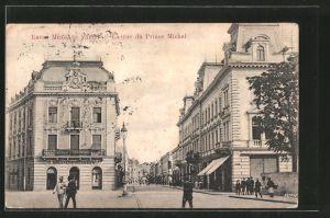 AK Belgrade, la rue du Prince Michel