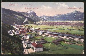 AK Selztal, Gesamtansicht mit Bahnhof, Grimming und Hochtausing
