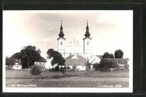 AK St. Veit am Vogau, Blick zur Kirche