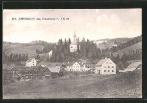 AK St. Kathrein am Hauenstein, Teilansicht mit Blick zur Kirche