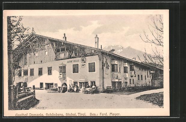 AK Schönberg, Gasthof Domanig v. F. Mayer