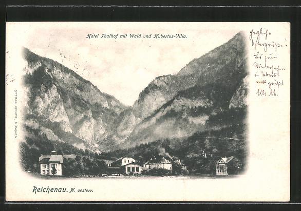 AK Reichenau, Hotel Thalhof mit Wald & Hubertus-Villa