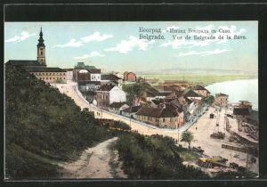 AK Belgrade, vue de Belgrade de la Save