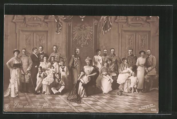 AK Kaiser Wilhelm II. und das deutsche Kaiserhaus