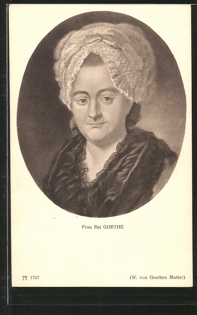 Briefe Von Goethes Mutter : Ak frau rat goethe w von goethes mutter nr