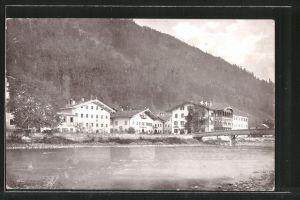 AK Zellbergeben, Blick zum Ort vom Ufer aus