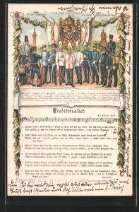 AK Traditionslied, Hannoveraner-Regimenter, Uniformen der Reichseinigungskriege