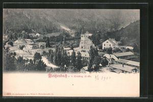 AK Weissenbach a.d. Triesting, Ortsansicht aus der Vogelschau