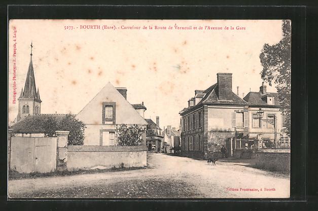 AK Bourth, Carrefour de la Route de Verneuil et de l'Avenue de la Gare
