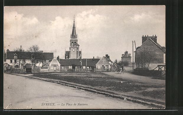 AK Evreux, La Place de Navarre