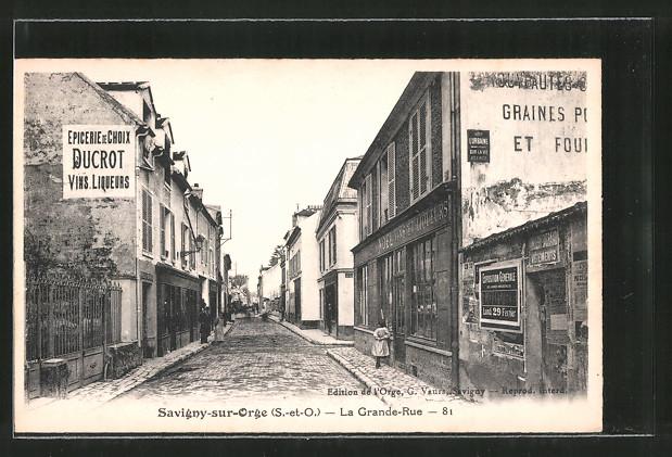 AK Savigny-sur-Orge, La Grande-Rue