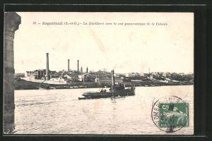 AK Argenteuil, La Distillerie avec la vue panoramique de la Colonie
