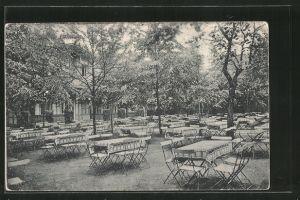 AK Dresden-Plauen, Cafe Westend v. E. Müller mit Gartenlokal, Chemnitzer Strasse 107