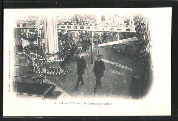 AK A bord du Courbet, le Commanandt Pottier, französischer Kommandant an Bord seines Kriegsschiffes