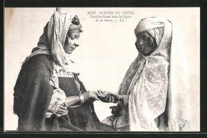 AK Arabische Hellseherin liest einem Mädchen aus der Hand