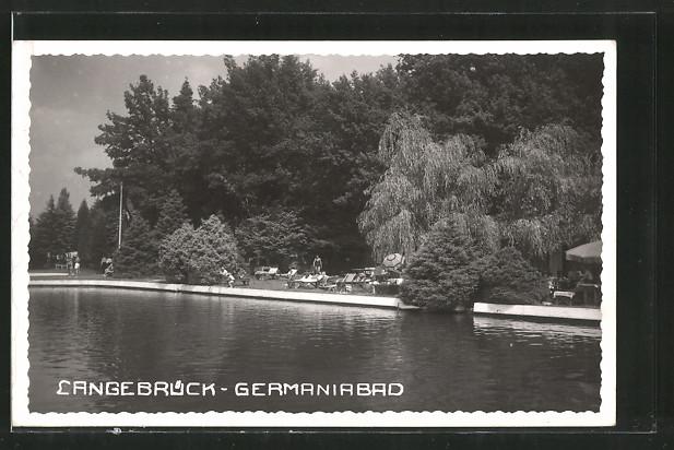 AK Langebrück, Partie im Germaniabad