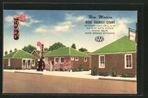 AK Rock Springs, WY, Motel Rose Tourist Court, 924 Pilot Butte Avenue