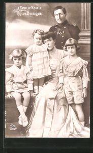 AK Königliche Familie von Belgien, la Famille Royale de Belgique