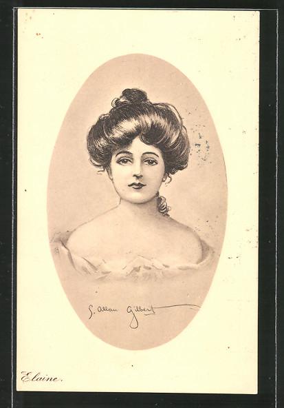 Künstler-AK James Henderson + Sons Nr. 39: Elaine, Porträt einer jungen Dame