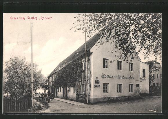 AK Dresden-Rockau, Gasthof Rockauer Lindenschänke Nr. 6902783 ...