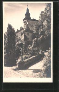 AK Friedland / Frydlant, Partie am Schlosshof