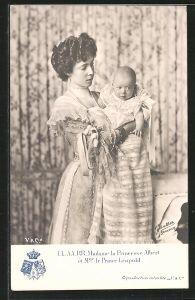 AK Madame la Princesse Albert et le Prince Léopold, Prinzessin Albert von Belgien mit dem kleinen Prinzen Leopold