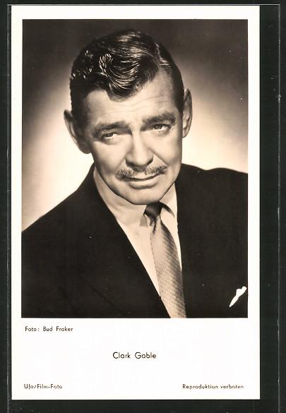 AK Schauspieler Clark Gable posiert im Anzug