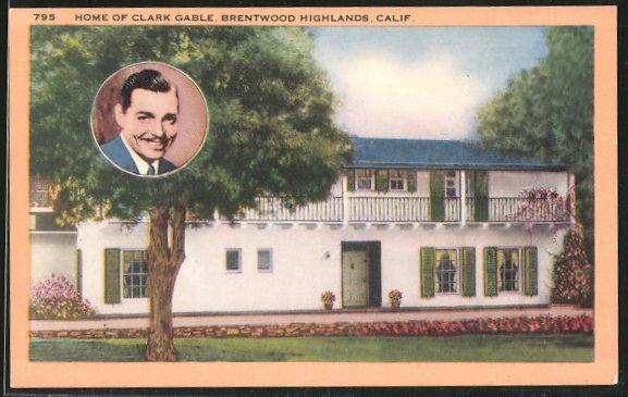 AK Brentwood, Schauspieler Clark Gable, Brentwood Highlands, Home of Clark Gable