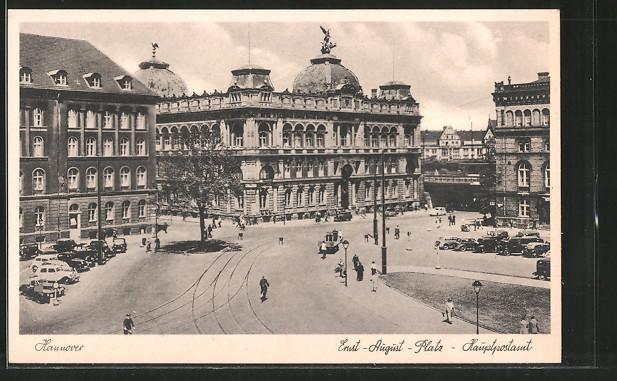 AK Hannover, Hauptpostamt am Ernst-August-Platz