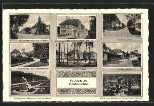 AK Grafenwöhr, Truppenübungsplatz, Ludwigstrasse, Offizier-Kasino, Offizier-Lager