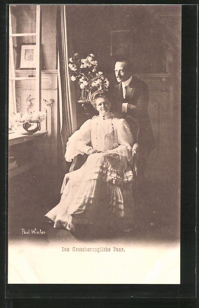 AK Grossherzog Ernst Ludwig von Hessen-Darmstadt mit seiner Gemahlin