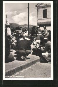 AK Sarajewo, Bascarsija, bosnische Strassenhändler