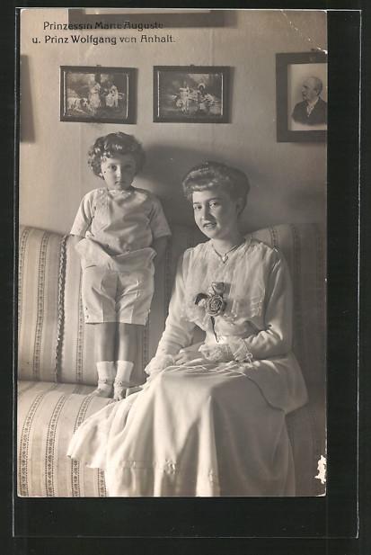 AK Prinzessin Marie Auguste & Prinz Wolfgang von Anhalt