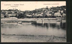 AK Dresden-Loschwitz, Teilansicht mit Drahtseilbahn und Schwebebahn Loschwitzhöhe