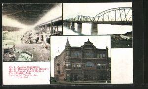 AK Fort Smith, AR, Cotton Compress, Grand Opera House, Missouri Pacific Bridge