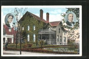 AK Buffalo, NY, Milburn Residence, Sterbehaus von McKinley, ehem. Präsident der USA
