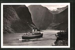 AK Norwegen, Passagierschiff M. S.