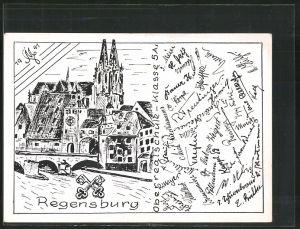 AK Regensburg, Absolvia Oberrealschule Klasse 5a 1941, Dom